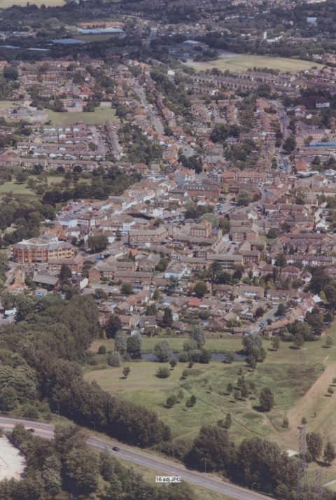 Aerial View of Town Centre